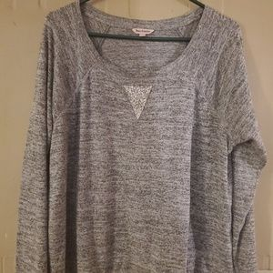 Juicy Couture Woman's XL Gray Bling Shirt Top